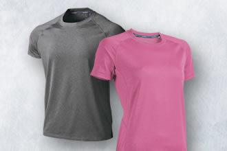 フィットネスストレッチTシャツ/フィットネスシャツ